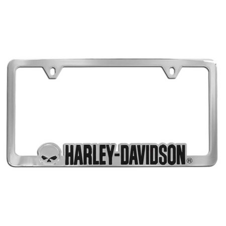 Harley-Davidson Willie G. Skull License Plate Frame Chrome HDLFC292 ...