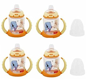 NUK Disney Winnie the Pooh 5 Ounces Learner Cup Silicone Spout, 6+ Months (Pack of 4) by Nuk