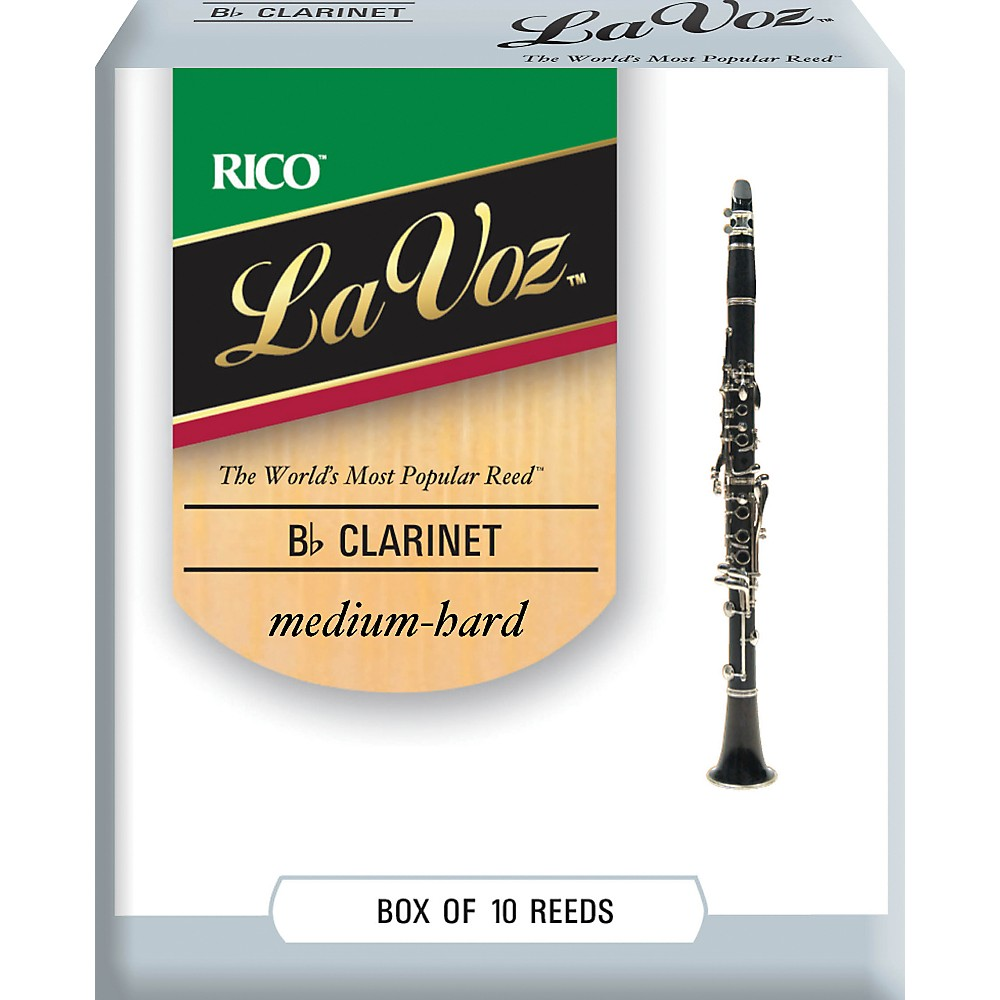 La Voz Bb Clarinet Reeds Medium Hard Box of 10 by La Voz