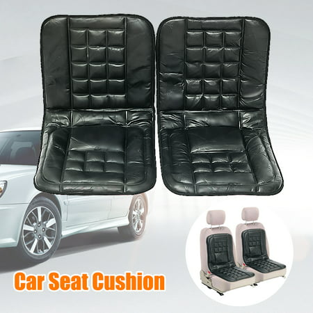 A Pair Car Front Rear Seat Cover PU Leather Pad Mat Chair Cushion Universal New