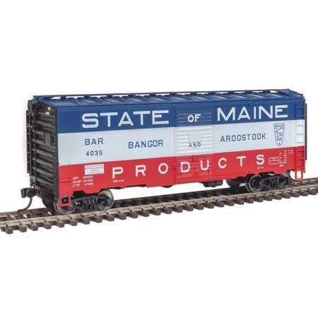 Walthers HO Scale 40' AAR 1948 Boxcar Bangor Aroostook/B&A/State of Maine (Stores In Bangor Maine)