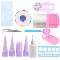 Tebru 11 In 1 Paper Quilling Tools Kit DIY Paper Craft Crimper Comb Ruler Pins Border Buddy Set , Quilling Crimper Tool, Slotted Quilling Tool