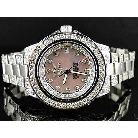 Breitling Brand New Ladies Breitling Aeromarine Pink Colt Ocean Diamond Watch 9.5 Ct
