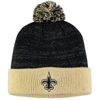 Women's Black/Gold New Orleans Saints Lurex Two-Tone Cuffed Knit Hat - OSFA