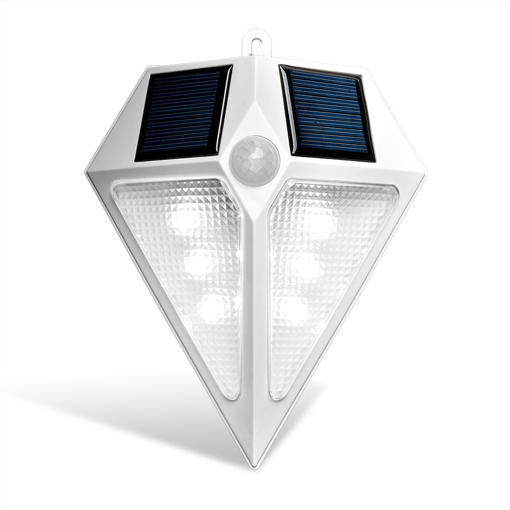 AGPTEK 6 Leds Waterproof LED Solar Led Light Lamps Solar Wall Lamps Solar Lights for Outdoors