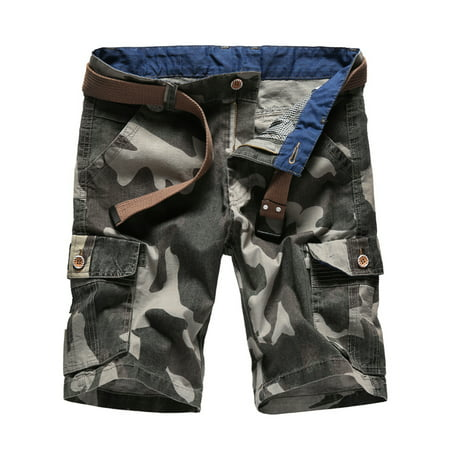 Men's Cargo Shorts Lightweight Multi Pocket Outdoor Camo Shorts Cotton