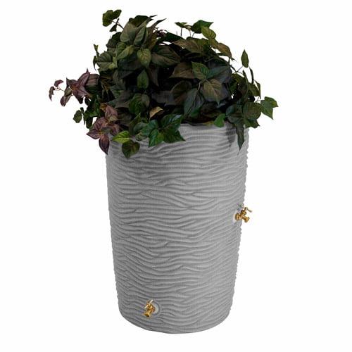 Impressions 50-Gallon Palm Rain Saver, Light Granite
