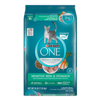 Purina ONE Sensitive Skin & Stomach Adult Dry Cat Food, 16 lb
