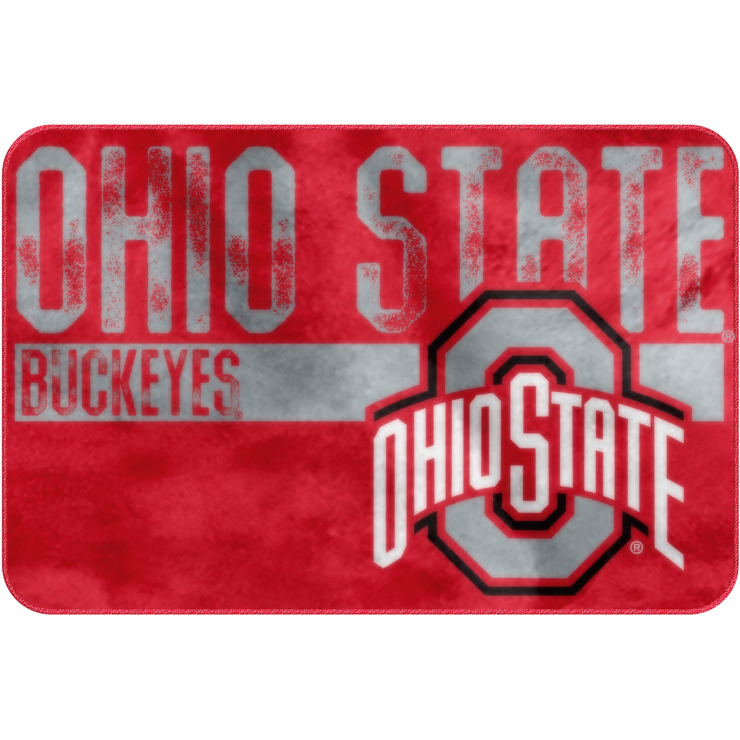 "NCAA Ohio State Buckeyes ""Worn Out"" Mat, 20"" x 30"""