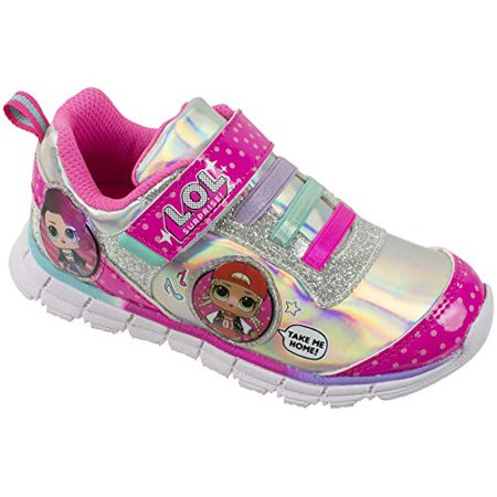 L.O.L Surprise! Girls Sneakers, Light Up Athletic Sneaker, MC Swag and Rocker, Pink, Girls Size 2 - Lol Skins Halloween