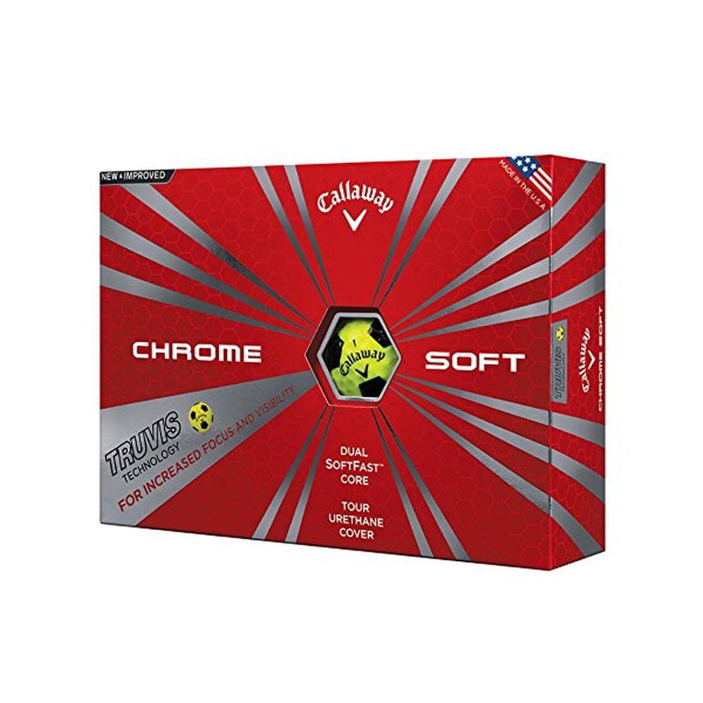 Callaway Chrome Soft Truvis Golf Balls (Yellow) 12pk Ball New by CALLAWAY