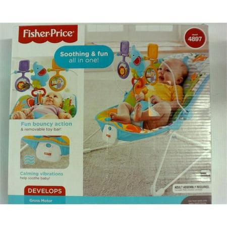 cca9ec14469e1 Fisher-Price Animal Kingdom Baby Bouncer - Walmart.com