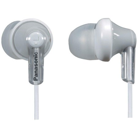 Panasonic ErgoFit In-Ear Earbud Headphones RP-HJE120-S, (Silver) Dynamic Crystal Clear Sound, Ergonomic