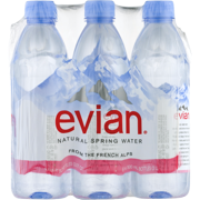 8278f13a12 Evian Natural Spring Water, 16.9 Fl. Oz., 6 Count - Walmart.com