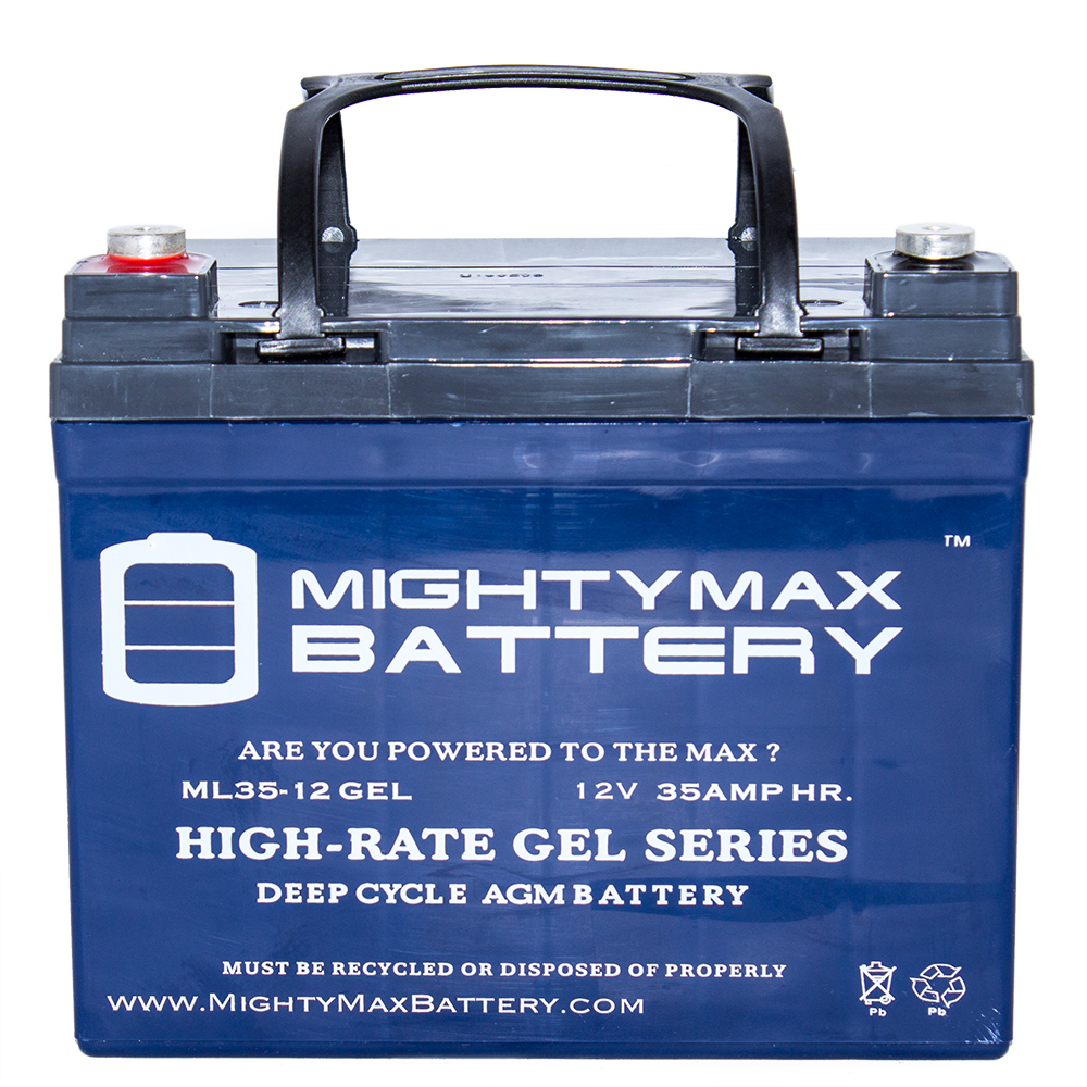12V 35Ah GEL Battery Replaces JohnDeere Lawn Tractor-Ridi...