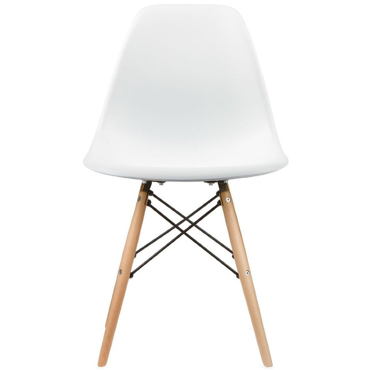 2xhome white eames style side chair natural wood legs eiffel dining room chair