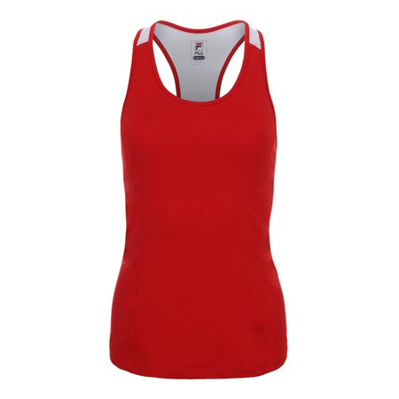 f0bbe647 FILA - Women`s Heritage Racerback Tennis Tank Chinese Red and White ...