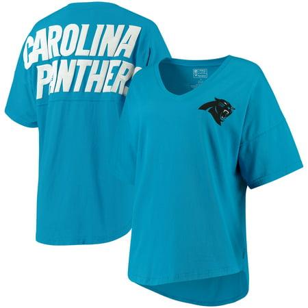 Carolina Panthers NFL Pro Line by Fanatics Branded Women s Spirit Jersey  Goal Line V-Neck T-Shirt - Blue - Walmart.com 819a353b6a