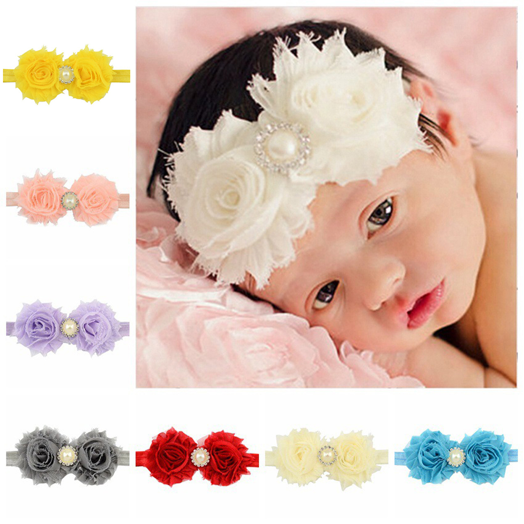 Coxeer 20Pcs Baby Girls Ribbon Hair Bows Clips Fashion Pearl Headbands Hair Accessories for Kids Teen Girls Women (Colorful)