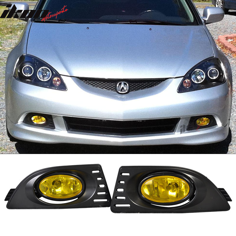 Fits 05-06 Acura RSX Yellow Lens Bumper Fog Lights Lamps