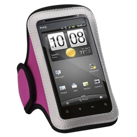 Insten Pink Sports Running Armband Case for LG Realm Joy Escape 2 Motion 4G Optimus Elite Optimus M+ Transpyre F70 Lucky Sunrise Optimus Exceed Optimus F3 (Lg Optimus F70)
