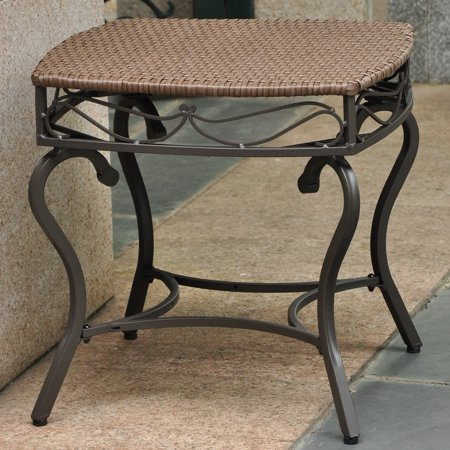 International Caravan Lisbon Wicker Contemporary Patio Side Table ()