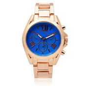 Women's Stainless Steel Chronograph Link Fashion Watch