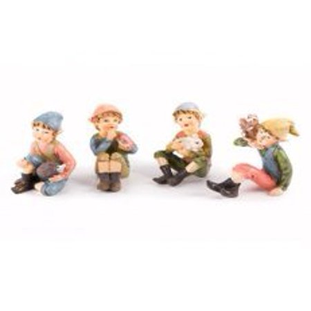 Blue Pixies Fairies (Darice Miniature Fairy Garden Figurines Pixie Boys Assorted Styles )