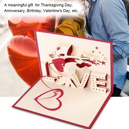 Spongebob Birthday Party Invitations (YLSHRF Three-dimensional Greeting Cards Pop Up Postcard Birthday Party Valentine's Day Gifts  , Wedding Invitations Cards, Three-Dimensional Greeting)