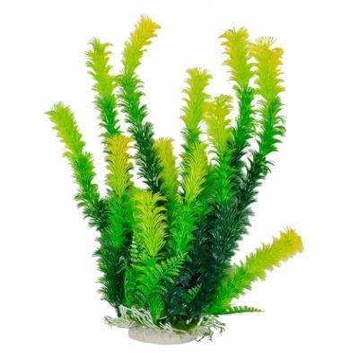 Aquatic Gears Inc (AquaTop) GREEN PLANT WEIGHTED GREEN/LIGHT YELLOW TIP 12