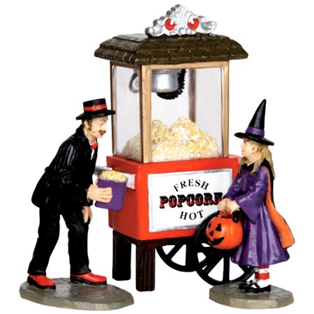 Lemax 32112 POPCORN TREATS Spooky Town Figurine Set of 3 Halloween Decor](Halloween Figurines)