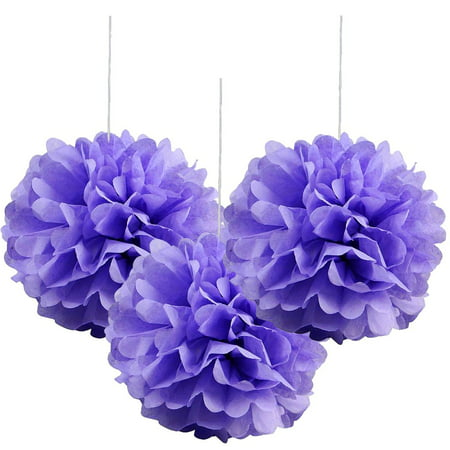 Efavormart 12 PCS Paper Tissue Wedding Birthday Party Banquet Event Festival Paper Flower Pom Pom-6 inch - Pom Poms Blue And White