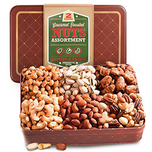 Golden State Roasted Nuts Assortment Gift Tin, 2 Pound
