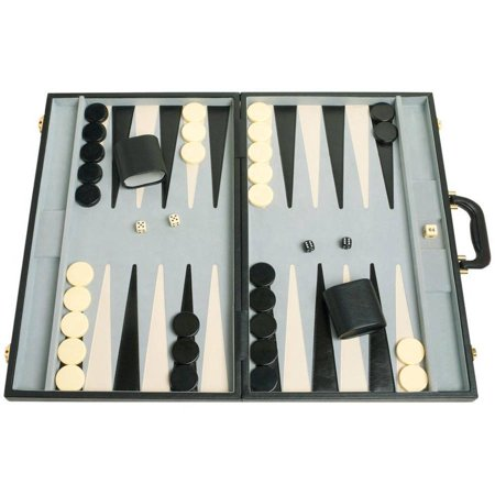 "21"" Tournament Backgammon Set, Black"