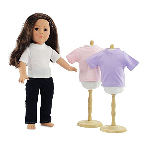 18 Inch Doll Clothes Skinny Jeans and White T-shirt Basics Outfit | 4 Pieces! Fits 18 Inch... by Emily Rose Doll Clothes
