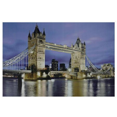 """LED Lighted célèbre London Bridge Canvas Wall Art 15,75"""" x 23,5"""" - image 2 de 2"""