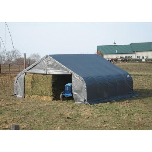 22' x 28' x 10' Peak Style Shelter, Gray
