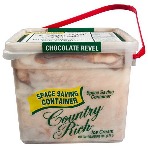 Country Rich Reduced Fat Chocolate Revel Ice Cream, 4.25 l