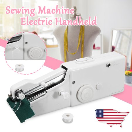 ♥Big Clearance♥ Portable Mini Electric Handheld Sewing Machine Handy Home Household Stitch Tech & Gadgets DIY Hand-made