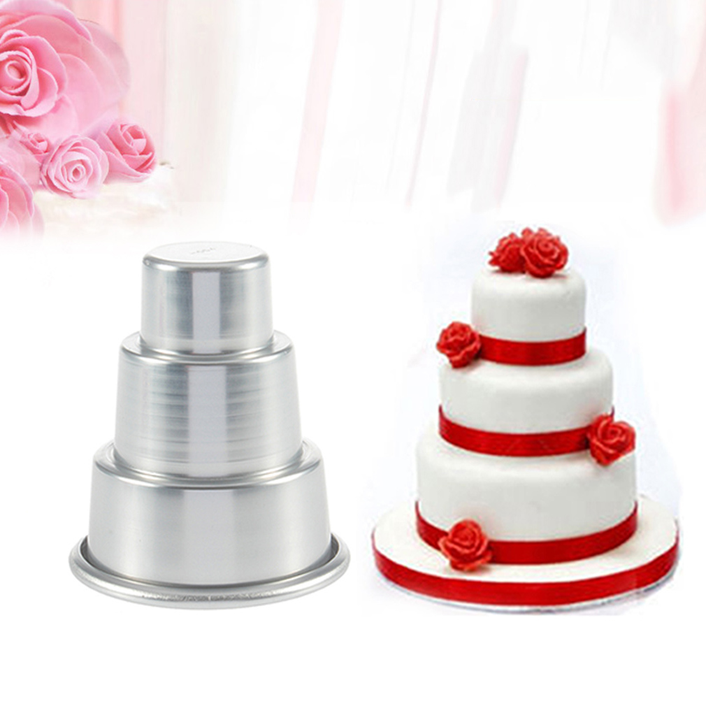 10PCS DIY Mini 3-Tier Cupcake Pudding Chocolate Cake Mold...