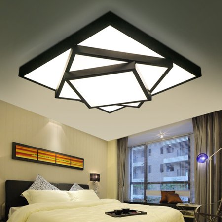 Modern Square Stack Lamp LED Ceiling Lights Dimmable Chandeliers Home Fixture Monroe Square Chandelier