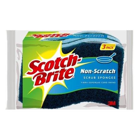 Scotch-Brite Non-Scratch Scrub Sponge, 3 Count