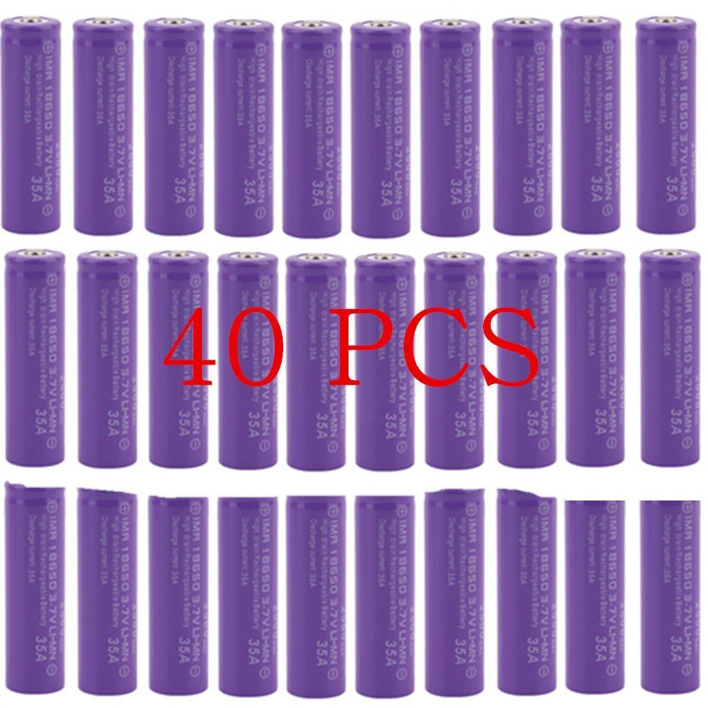40X Purple 18650 3.7V High Drain 2500mAh Li-Mn Rechargeab...