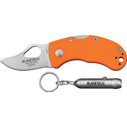 Blade Tech Knives 04PEOR Mouse Lite Lockback Knife with Orange Fiberglass Reinforced Nylon Handles Multi-Colored