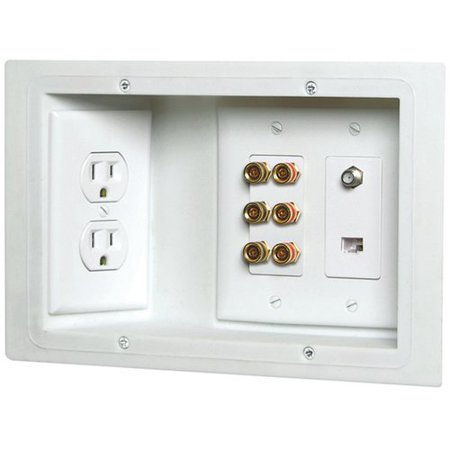 - Carlon 3 Gang Old Work Plate Wall Mounted Outlet Cover