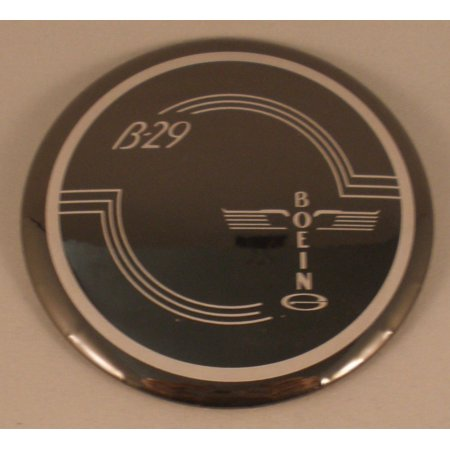 WWII Boeing B-29 Superfortress Aviation Control Yoke Hub Pinback  BTN-0107