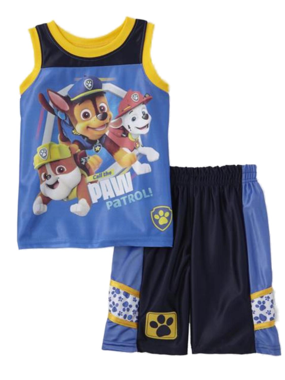 Nickelodeon Toddler Boys Paw Patrol Baby Outfit Dog Paw Print Gym Shorts Set 3T