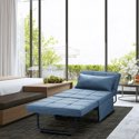 Ainfox 4 in 1 Ottoman Breathable Linen Guest Convertible Sofa Bed