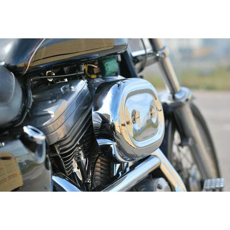 Framed Art For Your Wall Motor Engine Davidson V-twin Harley 10x13 Frame (Harley Davidson V-twin Engine)