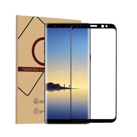 Galaxy Note 8 Screen Protector, Mignova Full Coverage Curved Tempered Glass with Anti-Scratch, Anti-Fingerprint, Bubble Free for Samsung Galaxy Note 8 (Black) (Galaxy S3 Screen Replacement Blue)
